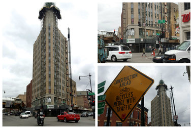 Images of the Northwest Tower in Wicker Park.