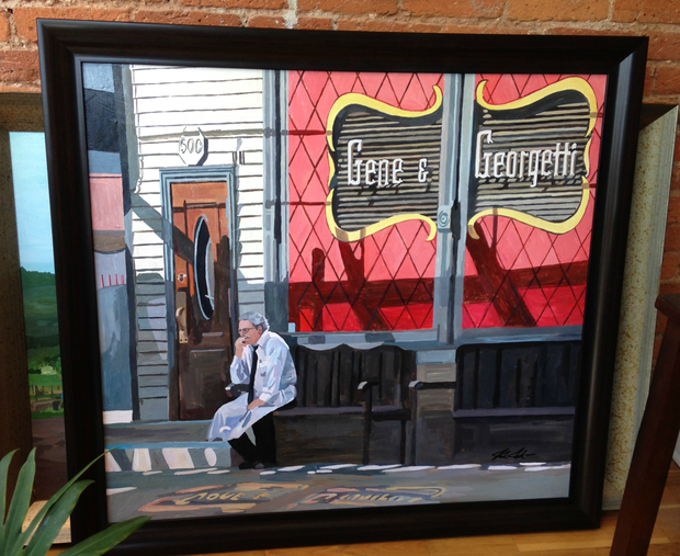 Artist Josh Moulton created a painting based on a photograph he took on a whim — little did he know, it was priceless for those who remember Bill Maroulis.