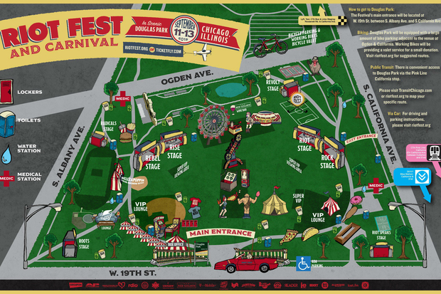 Riot Fest Will Take Over South Side of Douglas Park New Map Shows
