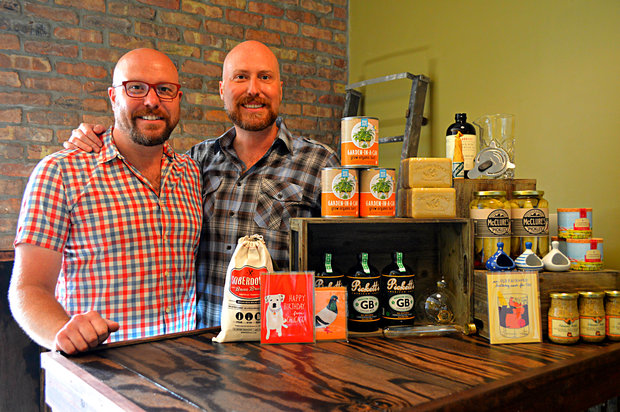 Erik Archambault and partner William Meek prepare to open their new shop at 6928 N. Glenwood Ave.