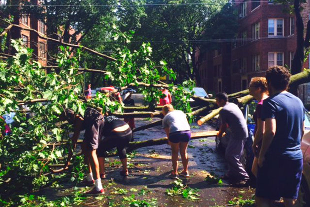 In August, the neighborhood was struck by a super cell storm that destroyed homes, trees, cars and more.