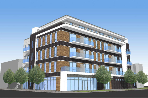 A rendering of the proposed transit-oriented development at 4618-20 N. Western Ave.