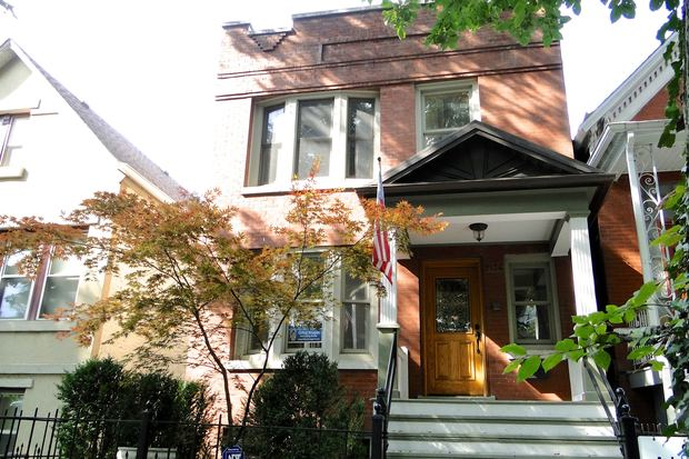 A single-family home for sale at 2136 W. Thomas St. in Ukrainian Village.