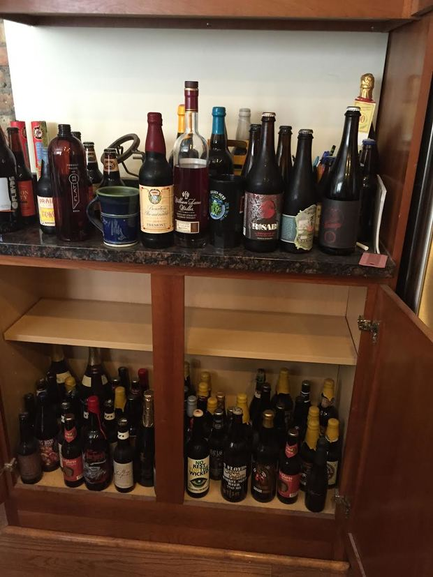 Adam Vavrick's personal collection includes more than 100 rare craft beers, some of which could fetch $500 on the black market.