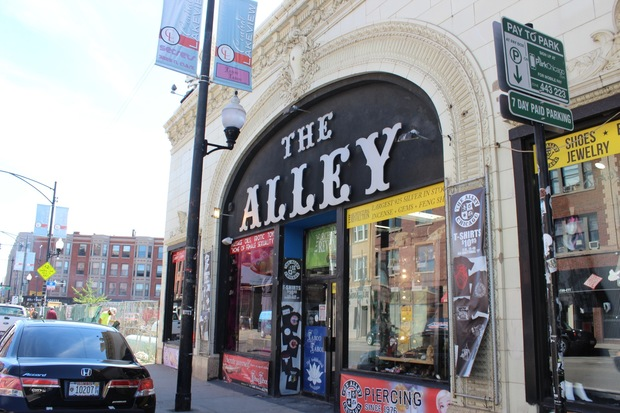 Mark Thomas, owner of The Alley, fears his building, originally a theater built in the 1920s, will be irreparably damaged by construction next door for the Belmont Clark development.