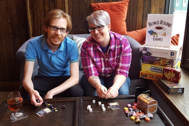 Courtney Hartley and husband Drew Lovell host Bonus Round pop-up board game nights as they prepare to open their own game cafe in Lakeview or Logan Square.