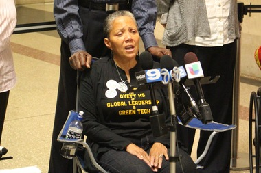 Dyett High School hunger striker Cathy Dale insists,