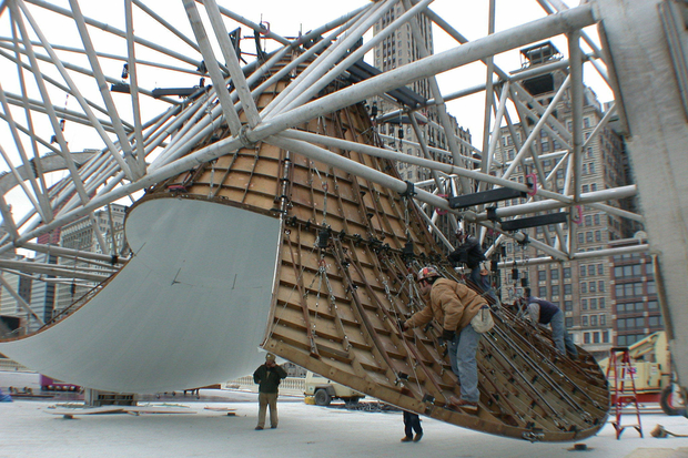 Construction of Cloud Gate, called
