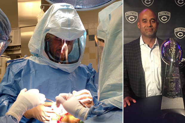 Former Bears wide receiver Dr. Gregory Primus is an orthopedic surgeon.