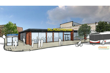 A preliminary drawing of the Dill Pickle Food Co-op is expanding to a new location at 2746 N. Milwaukee Ave.