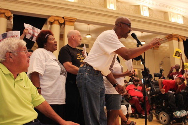 Backed by fellow Dyett hunger strikers Jeanette Ramann and Marc Kaplan, the Rev. Robert Jones says Bronzeville should have its own high school with its own plan.