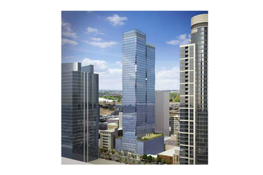 A rendering shown in September for the apartment tower proposed for 1326 S. Michigan Ave. Its developer revealed a shorter height Monday, but the building's design is mostly unchanged.