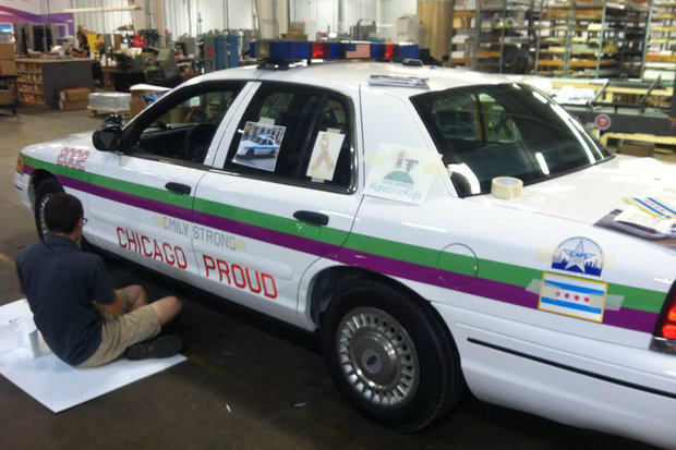 Emily Beazley Inspired Police Car Finished Just Ahead Of