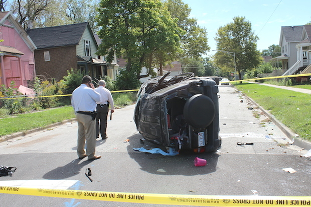 Englewood Shootout and Car Crash Leaves 1 Dead, 11 Injured