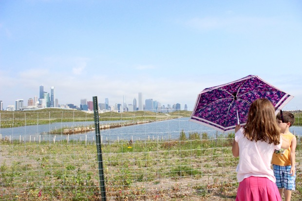 Sights from the new-and-improved Northerly Island Park, which reopened Friday.