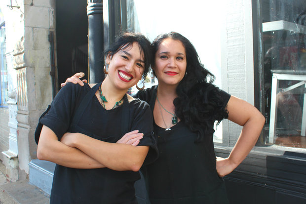 After operating a successful food truck for three years, Pilsen residents Moraima Fuentes (l.) and Cely Rodriguez have opened The Jibarito Stop, a Puerto Rican restaurant, on 18th Street in Pilsen.