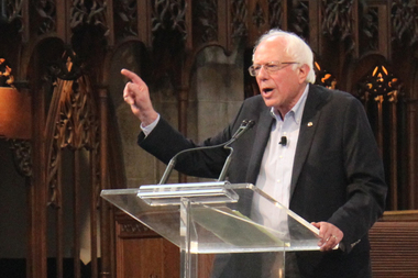 Sen. Bernie Sanders speaking last year at the University of Chicago.