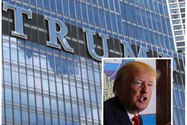 Trump International Hotel & Tower, 401 N. Wabash Ave., and Donald Trump (inset)