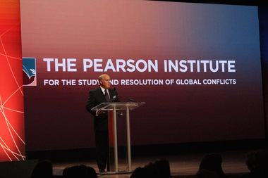 Thomas Pearson of the Pearson Family Foundation on Wednesday announced a $100 million gift to the University of Chicago to establish a new institute on global conflict.