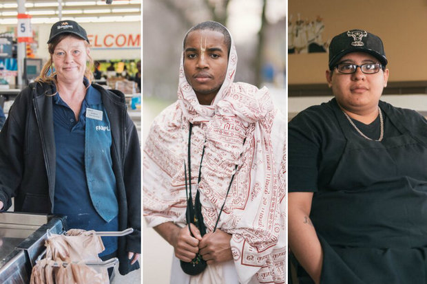Photos taken of Chicago residents by Mike Gugliuzza.