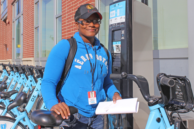 Fahrenheit Ridley said many people prefer to take the CTA rather than ride Divvy bikes from 63rd and Halsted.