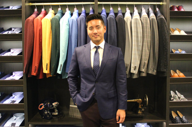 Owner Ge Wang opened ESQ Clothing's freestanding store in the West Loop this summer.