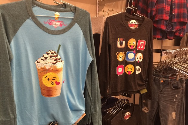 Party dresses and emoji-adorned shirts are some of the top items at Frankie's Southport, which will have its grand opening on Saturday.