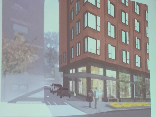 Developers hope to build a 7-story hotel in Hyde Park.