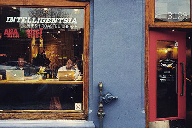 The flagship Intelligentsia on Broadway.