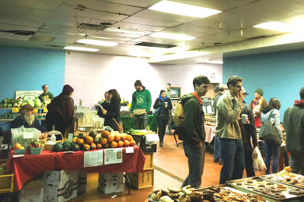 The Logan Square farmers market won't be held at the former Pierre's Bakery this indoor season.