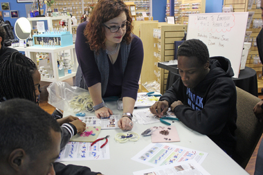 Teens from Pullman visit Blue Buddha Boutique in Edgewater.