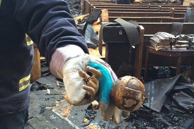 The Shrine of Christ the King has started the process of rebuilding a day after a devastating fire.
