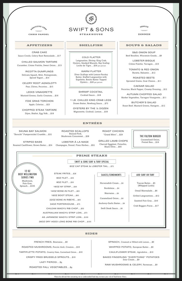 Check Out Swift Amp Sons Full Menu Before It Opens In West