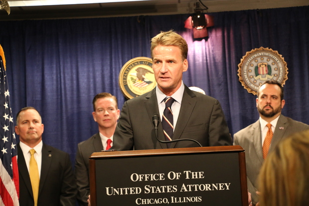 U.S. Attorney Zachary Fardon speaks at a news conference announcing Barbara Byrd-Bennett's indictment and guilty plea Thursday.