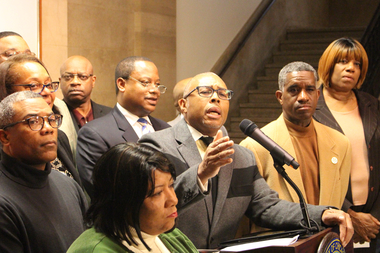 Ald. Howard Brookins Jr. led the City Council's Black Caucus in calling for the firing of Police Supt. Garry McCarthy.