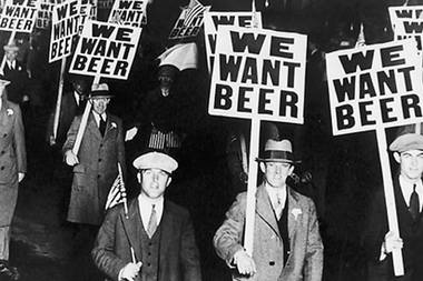 This historic photo was part of the Elmhurst History Museum's Beer in Chicago exhibit.