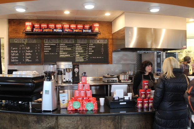 The traditional Italian Cafe at 4656 N. Clark St. officially opened around 6:30 a.m. Thursday, the manager said.
