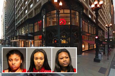 From left to right: Brezhelle Watts, Latina Taylor and Teanna Lewis are charged with retail theft.