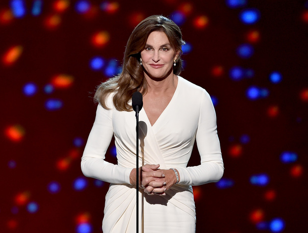 Caitlyn Jenner accepts the Arthur Ashe Courage Award onstage during The 2015 ESPYS in July.