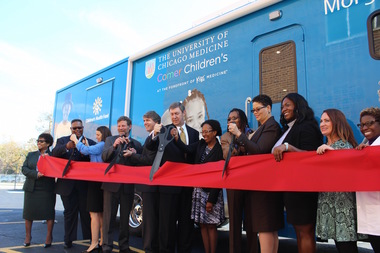 Comer Children's Hospital unveiled its new mobile clinic on Tuesday, which replaces an aging semi the hospital had used since 2003.