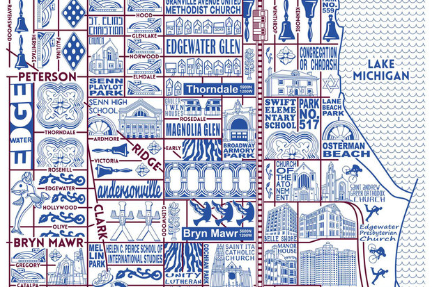 Artists Map Of Edgewater Andersonville Shows What Makes The Area
