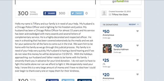 GoFundMe Removed Fundraiser for Officer Jason Van Dyke
