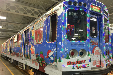 the train will run on the red line saturday according to a cta news release - Christmas Train Chicago