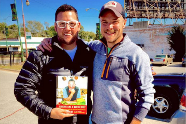 Horse Thief Hollow owner Neil Byers (right) and celebrity chef Graham Elliot will prepare appetizers paired with local beer Oct. 27 in an attempt to win over developers interested in the 19th Ward.