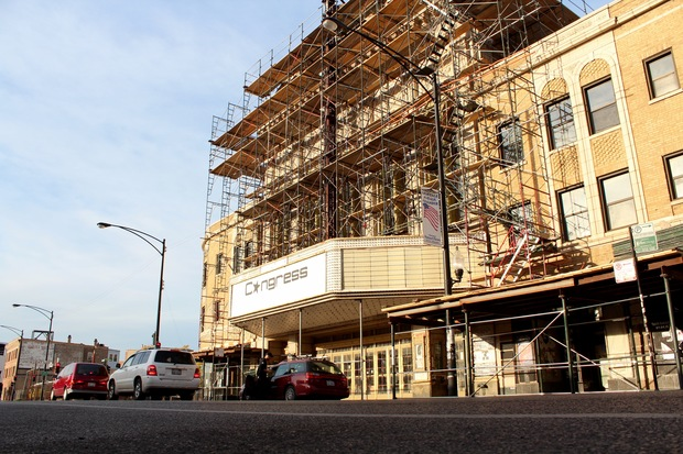 Congress Theater renovations could include constructing a 10-story building across the street from the theater.