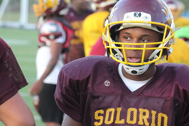 Solorio senior Devon Robinson is excited to go to college.