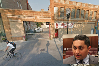 Lincoln Towing at 4882 N. Clark Street could face the wrath of local Ald. Ameya Pawar.