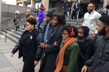 Malcolm London walks out of the Cook County Criminal Courthouse