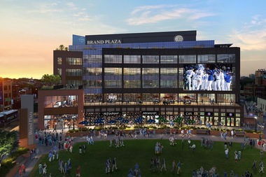 The second year of construction at Wrigley Field will include major work on the plaza and office building that will have first-floor retail and dining.