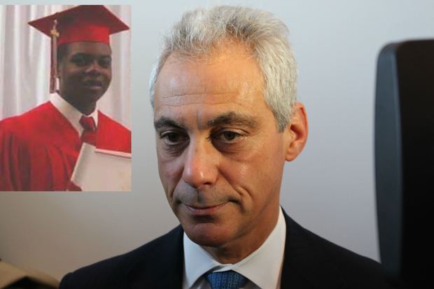 Rahm Emanuel says the police officer who shot Laquan McDonald had no justification.